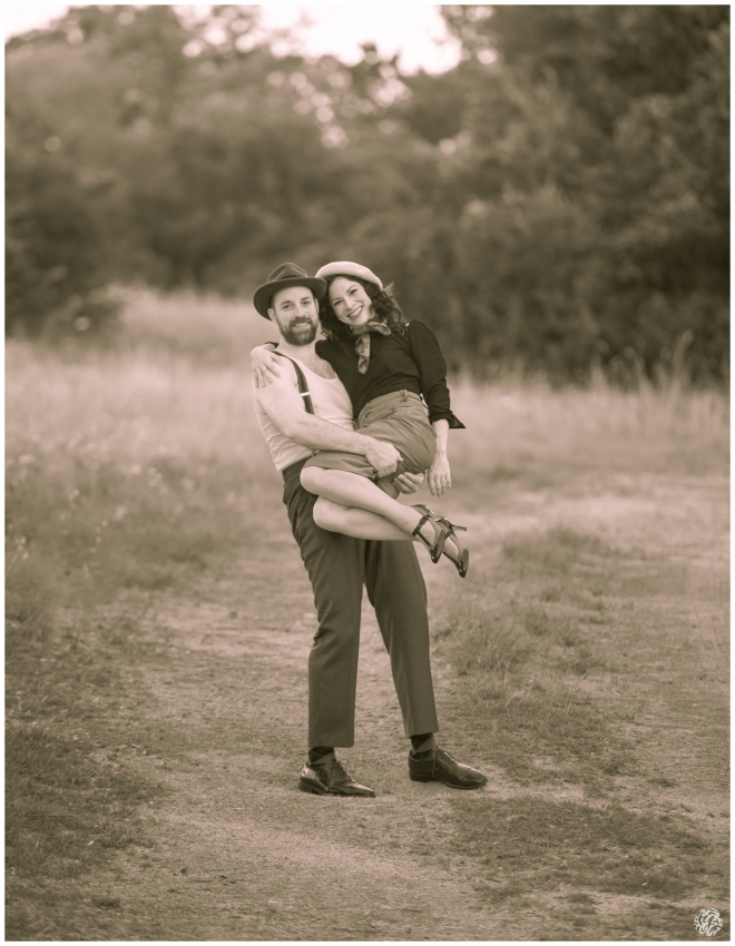 Bonnie & Clyde Inspired Photo Session - Yana's Photos - Dallas and Los Angeles Portrait Photographer - Sepia_4164.jpg